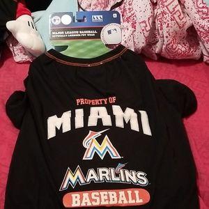 Pets First Miami Marlins XS L XL Dog Shirts